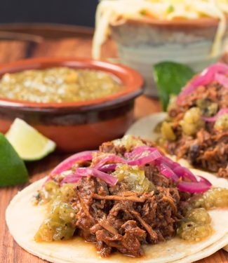 Beef barbacoa is a sure fire way to make tacos that people talk about. Talk about in a good way. The richness of the beef. The gentle heat from the chiles. The tang of the vinegar. Just big, wonderful flavours.