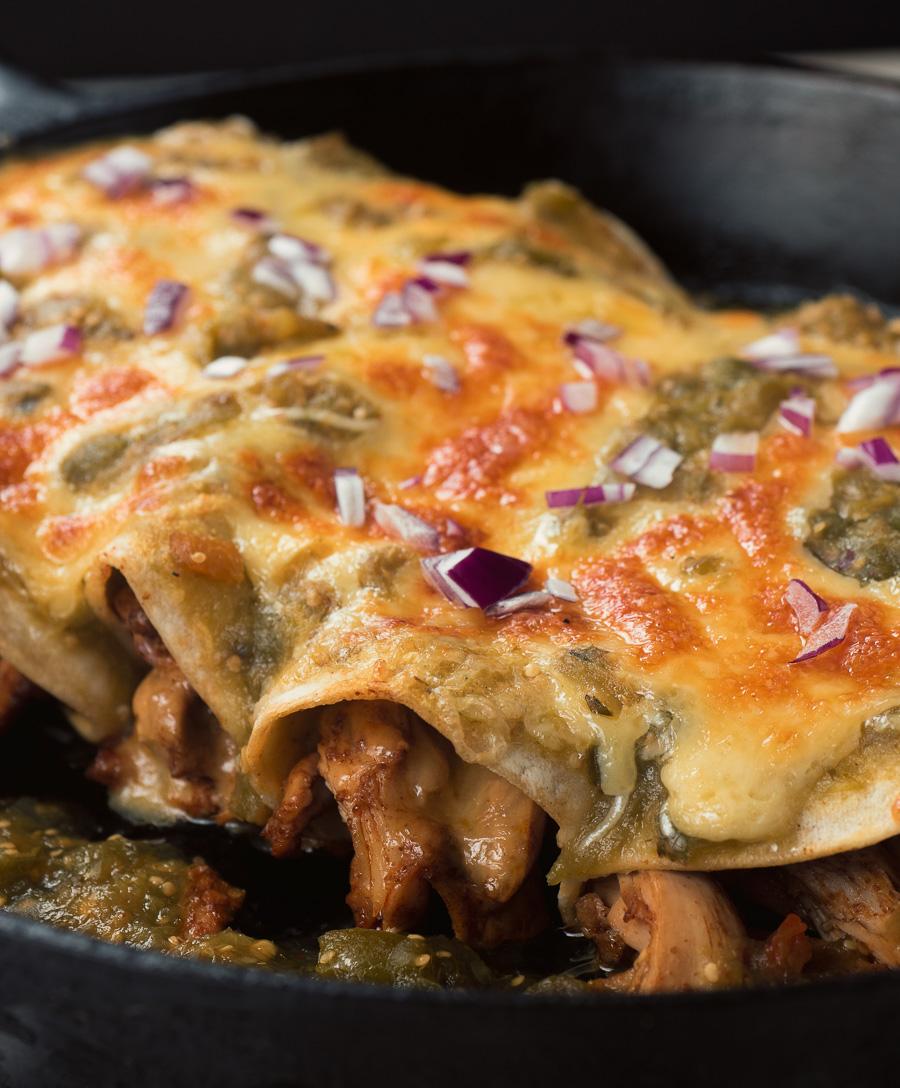Better than restaurant chicken enchiladas verdes.