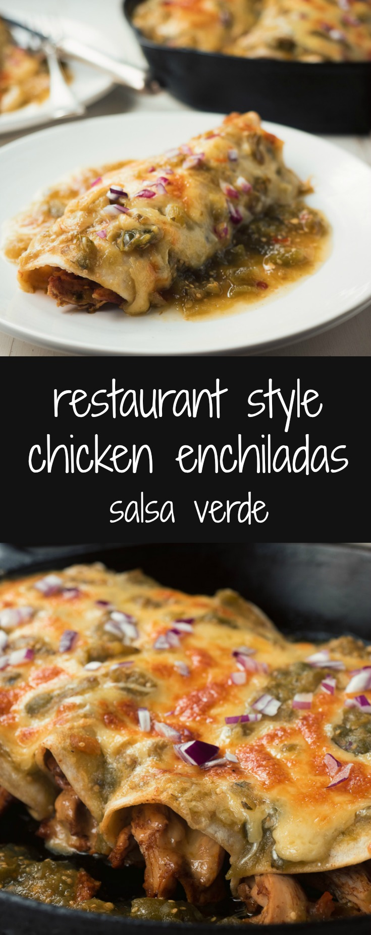 Better than restaurant chicken enchiladas verdes.