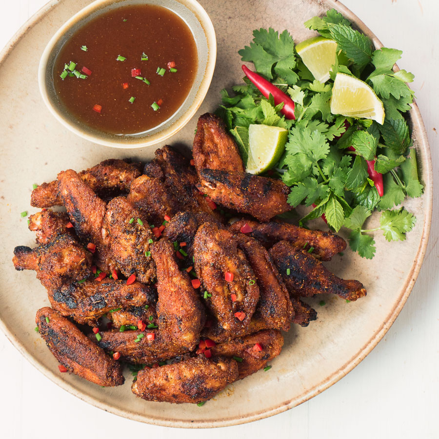 Indian spiced chicken wings with tamarind dipping sauce pack tons of flavour into what is already the world's most perfect food.