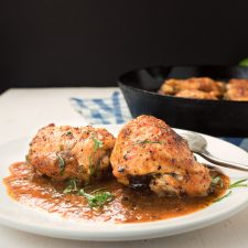 Mexican chicken with roasted tomato salsa is Mexican - upscaled!