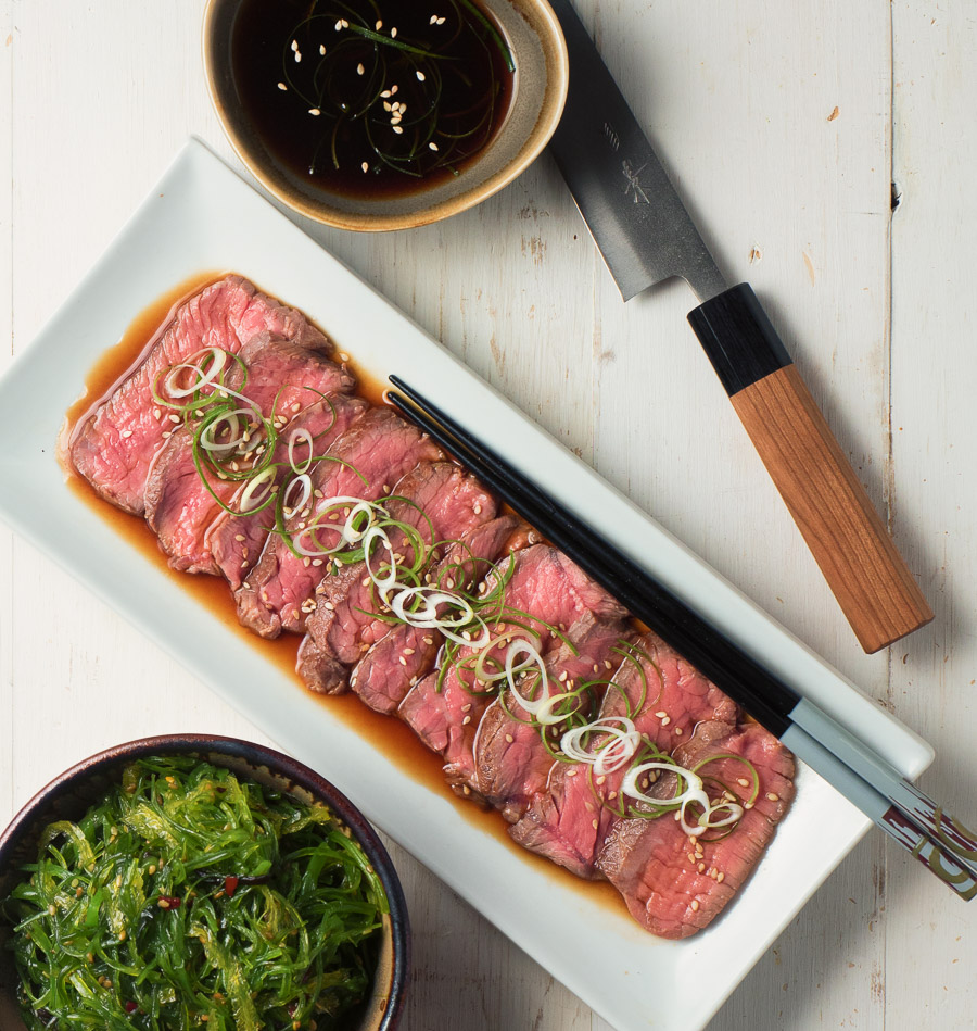 Sous vide is how the pros make your beef tataki perfect every time.