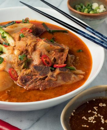 korean pork bone soup – gamjatang