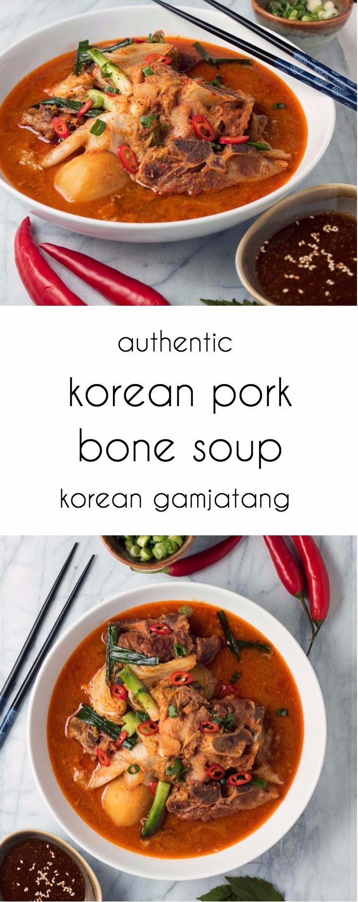 Korean pork neck bone soup - gamjatang. This is real foodie cooking!