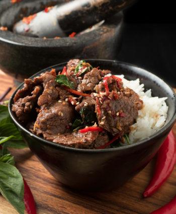 thai basil beef – pad gra prow