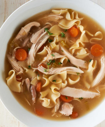 homemade chicken noodle soup – from scratch