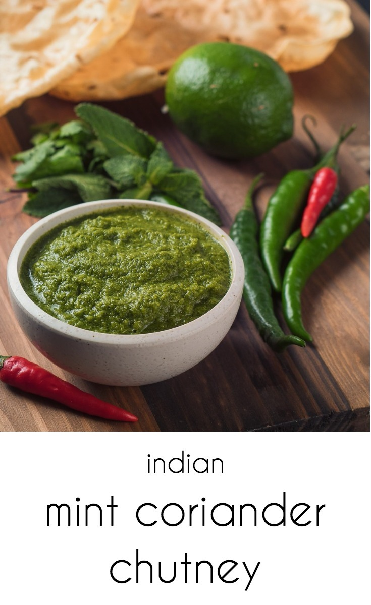 Mint coriander chutney adds big Indian flavours to curries but is great on it's own as a dip as well.