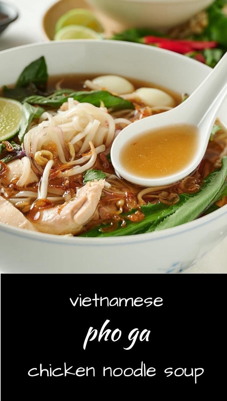 Pho ga is the ultimate Vietnamese chicken noodle soup.