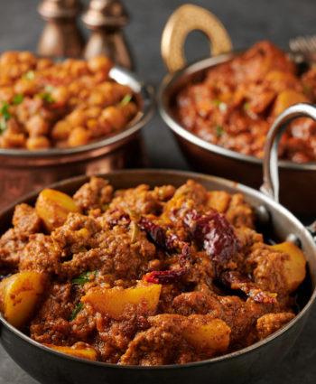 aloo keema – Indian restaurant potato and beef curry