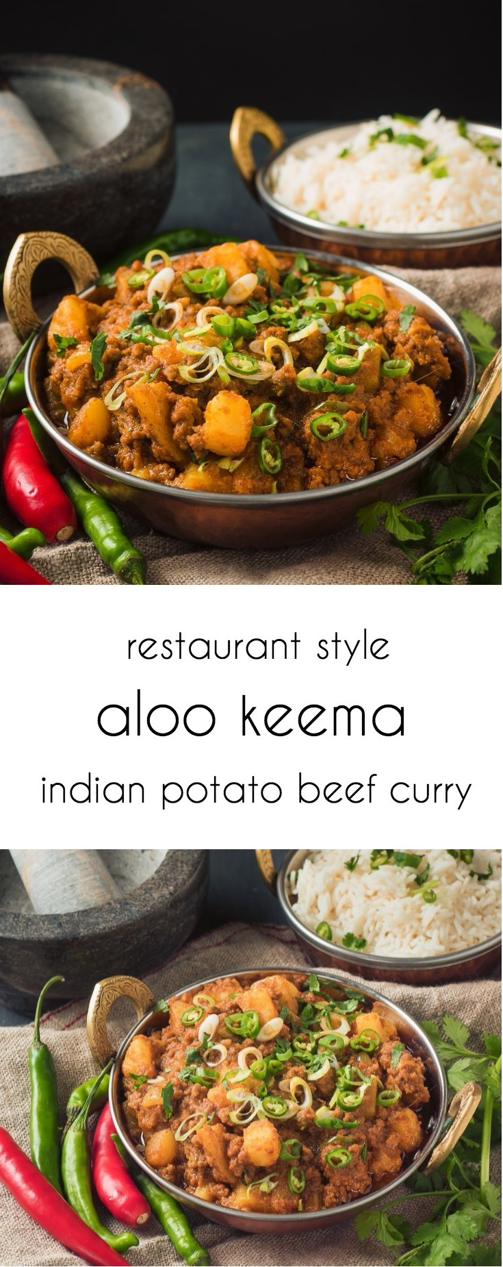 Restaurant style aloo keema makes a great alternative to the usual suspects.