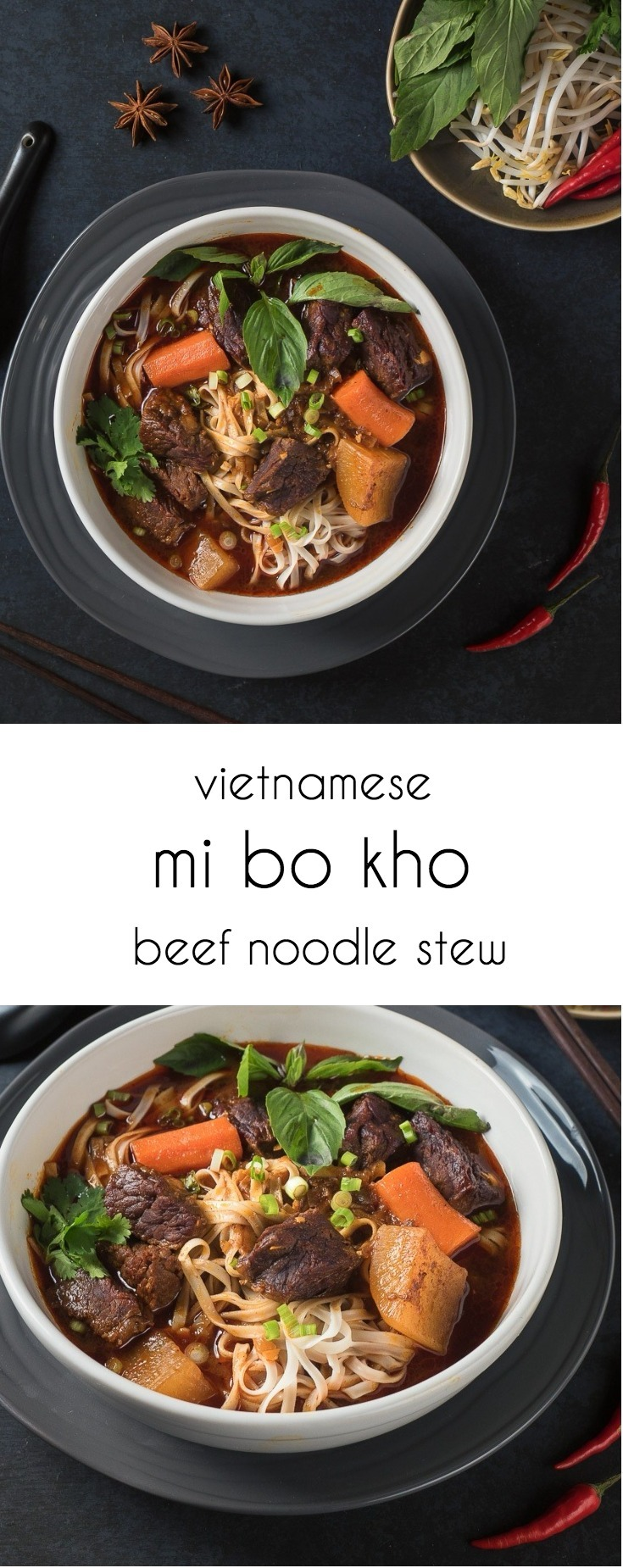 Mi bo kho - Vietnamese beef stew with rice noodles is beef stew cranked up to 10!