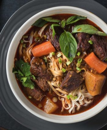 bo kho – vietnamese beef stew with egg noodles