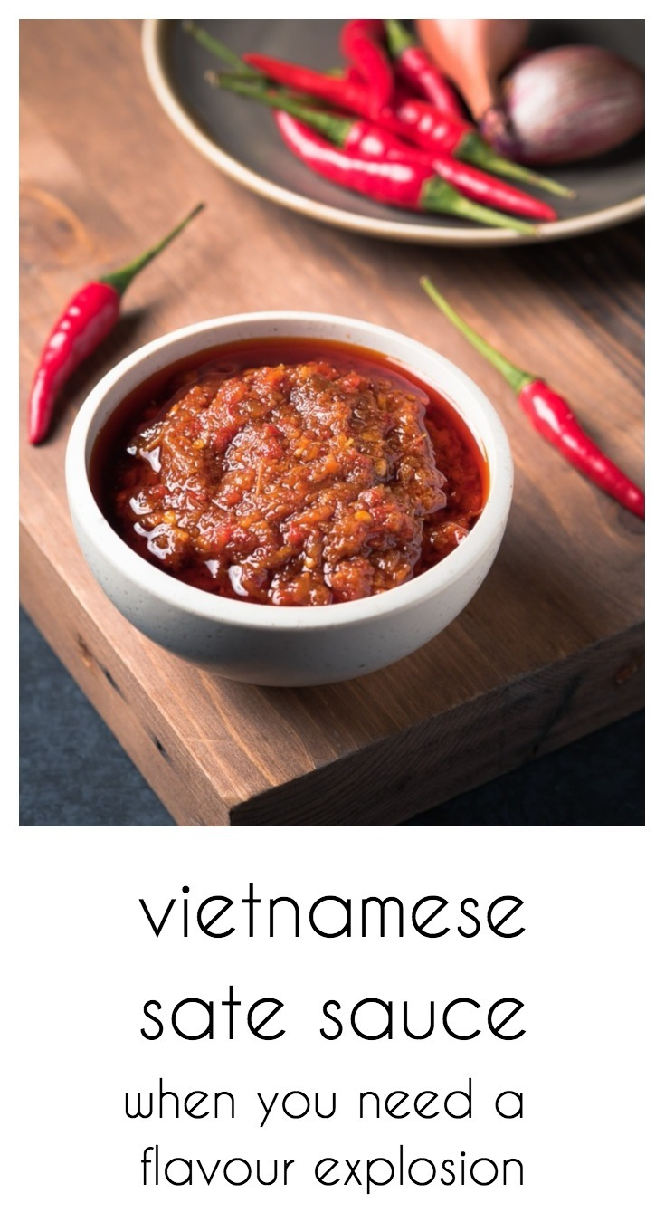 Vietnamese sate is sauce is the thai red curry paste of Vietnam.