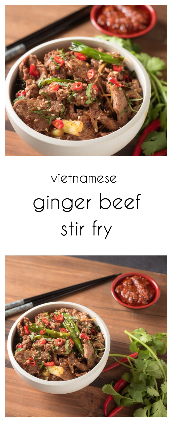 This ginger beef stir fry adds a spicy Vietnamese twist.