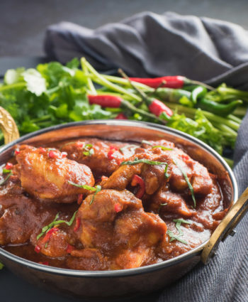 nearly restaurant style chicken madras