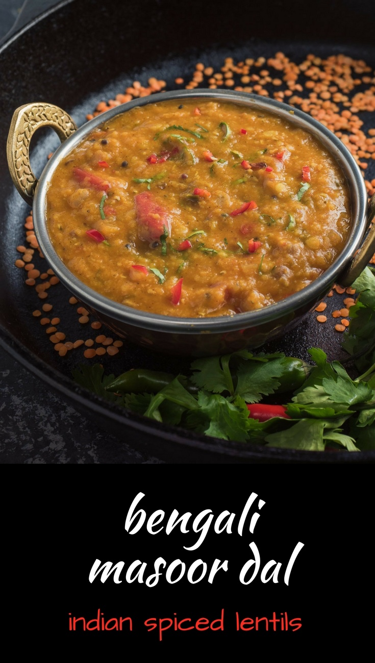 Bengali masoor dal is a great addition to any Indian meal.