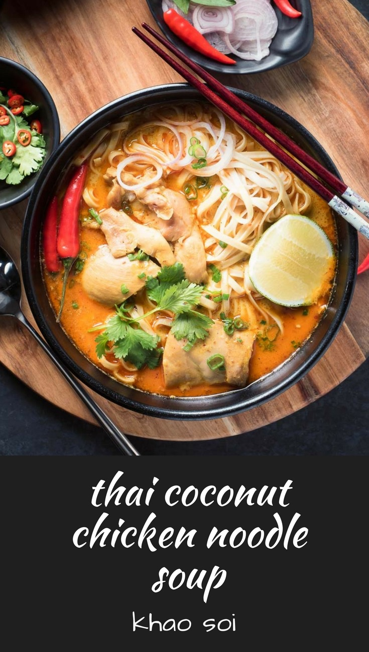 Thai chicken khao soi or Chiang Mai noodles is a thai coconut curry noodle soup that will make you forget pad thai.