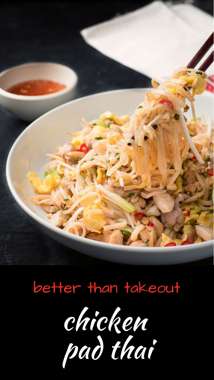 This is better than takeout chicken pad thai. And it's easy!