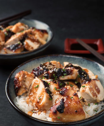 miso chicken with maple and ginger