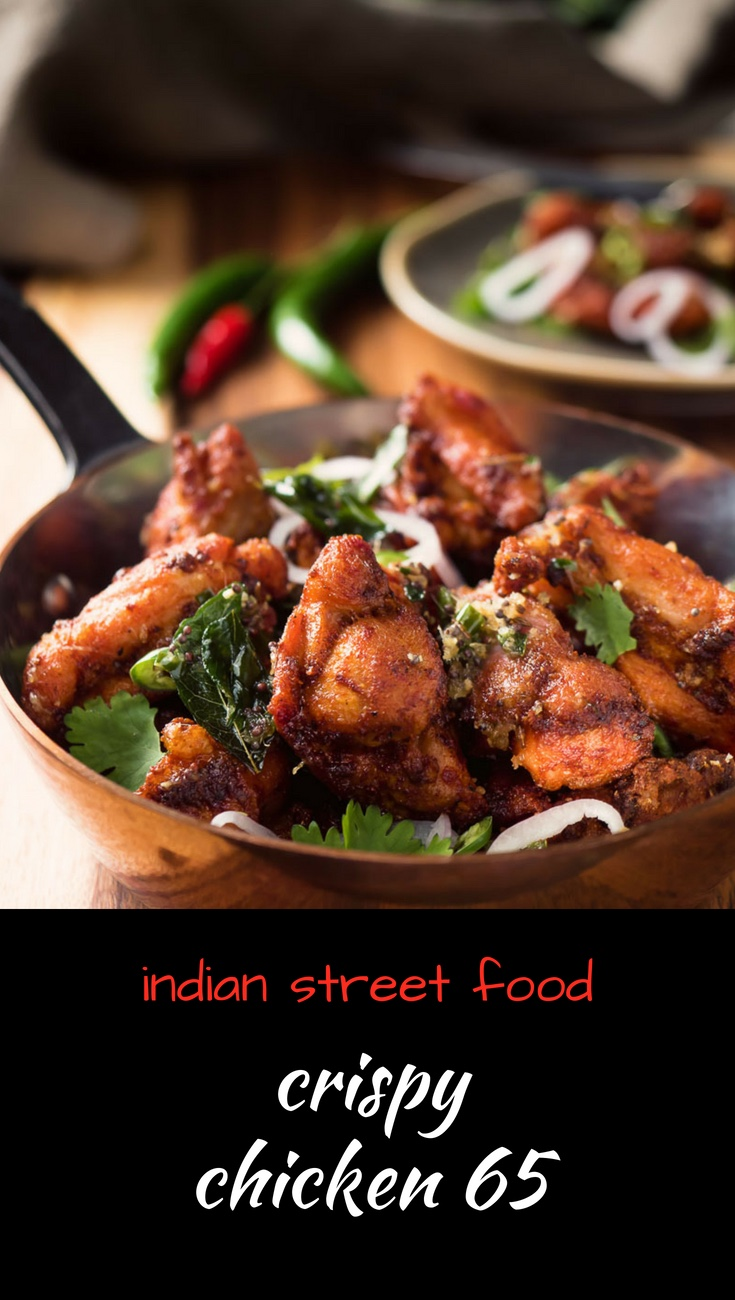Crispy spiced chicken 65 is the ultimate Indian appetizer.