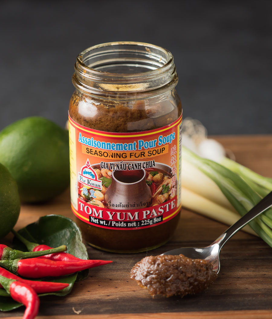 Commercial tom yum paste.