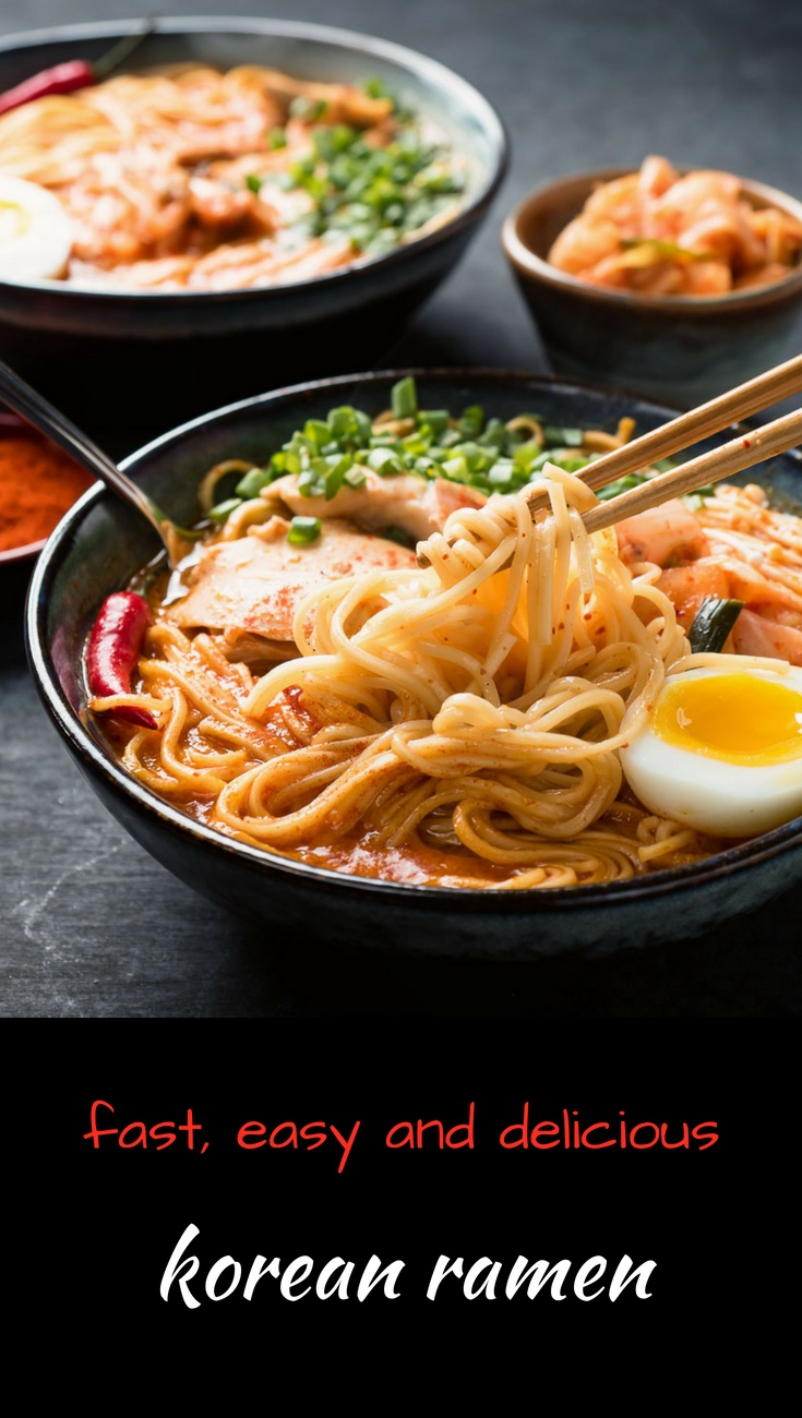 Korean ramen noodle soup. Not your usual ramyeon or ramyan...