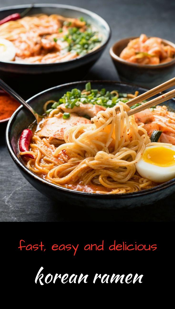 Korean ramen noodle soup. Not your usual ramyeon or ramyan...
