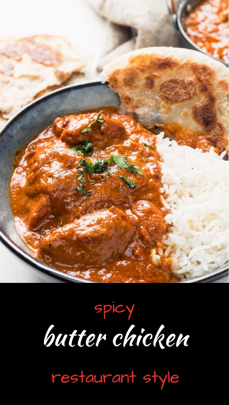 This butter chicken is loaded with big flavours and spice.