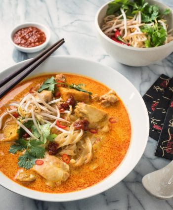 laksa noodle soup – spicy malaysian curry coconut soup