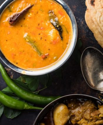 sambar – south indian lentil and vegetable stew