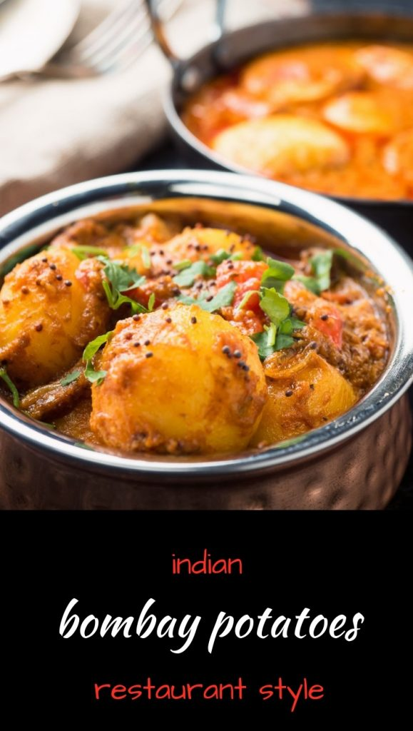 Bombay potatoes are an absolutely delicious vegetarian Indian curry.
