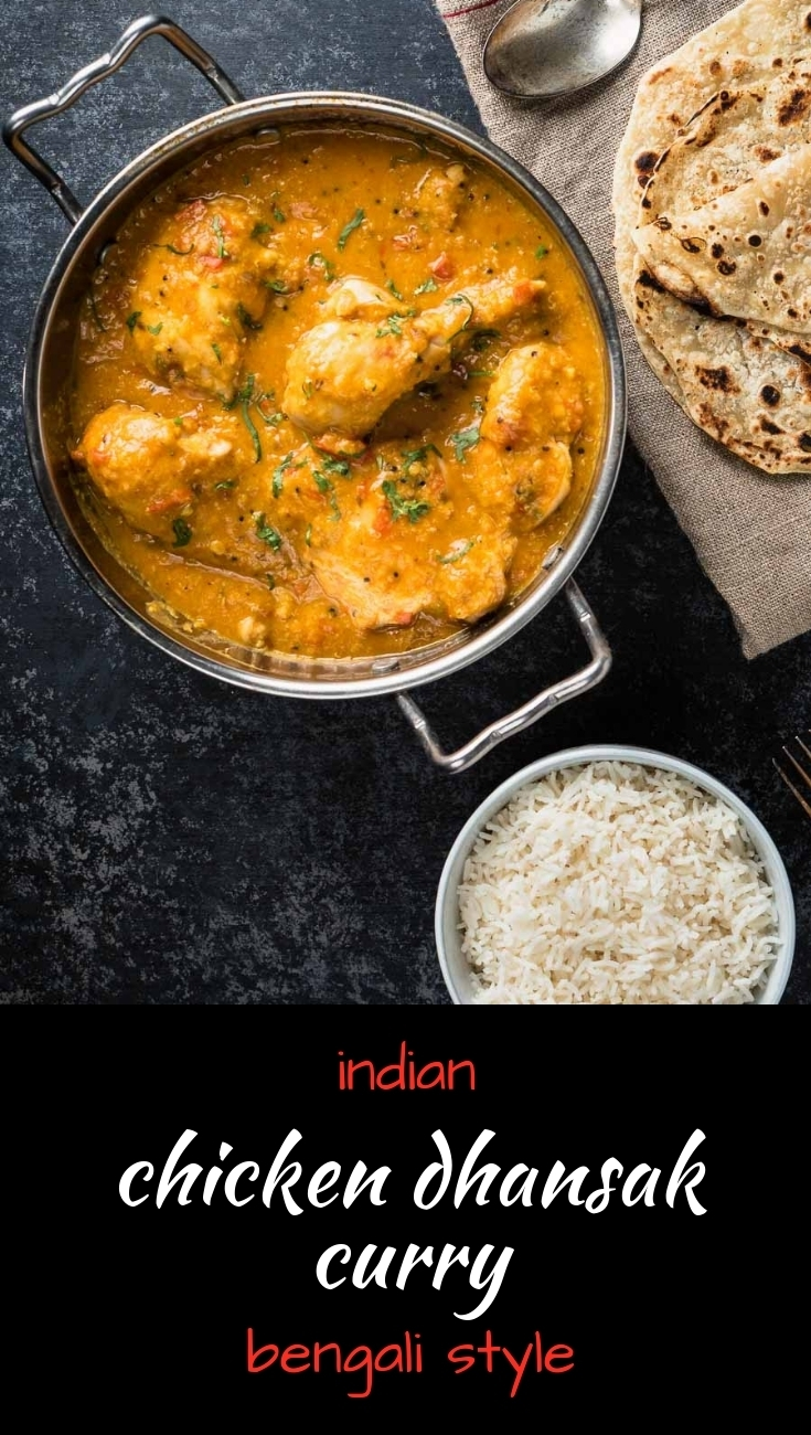 This Bengali style chicken dhansak packs a whole lot of big Indian curry flavours.