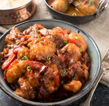 Gobi manchurian in a bowl.