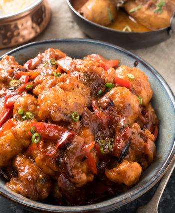 gobi manchurian – indian spiced cauliflower wings