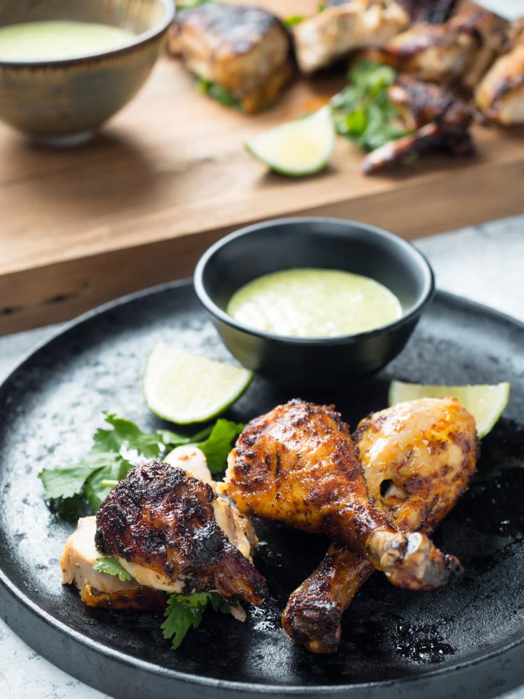 Peruvian chicken black cast iron.