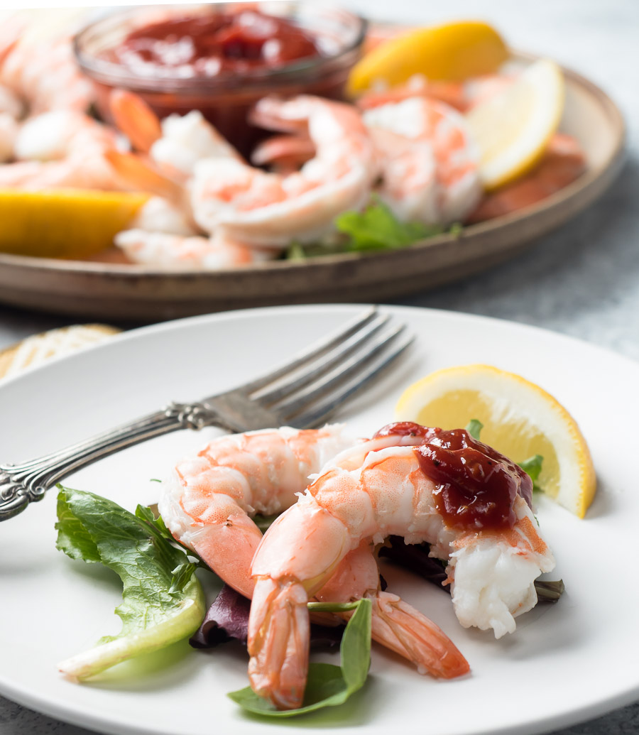 shrimp cocktail on a plate