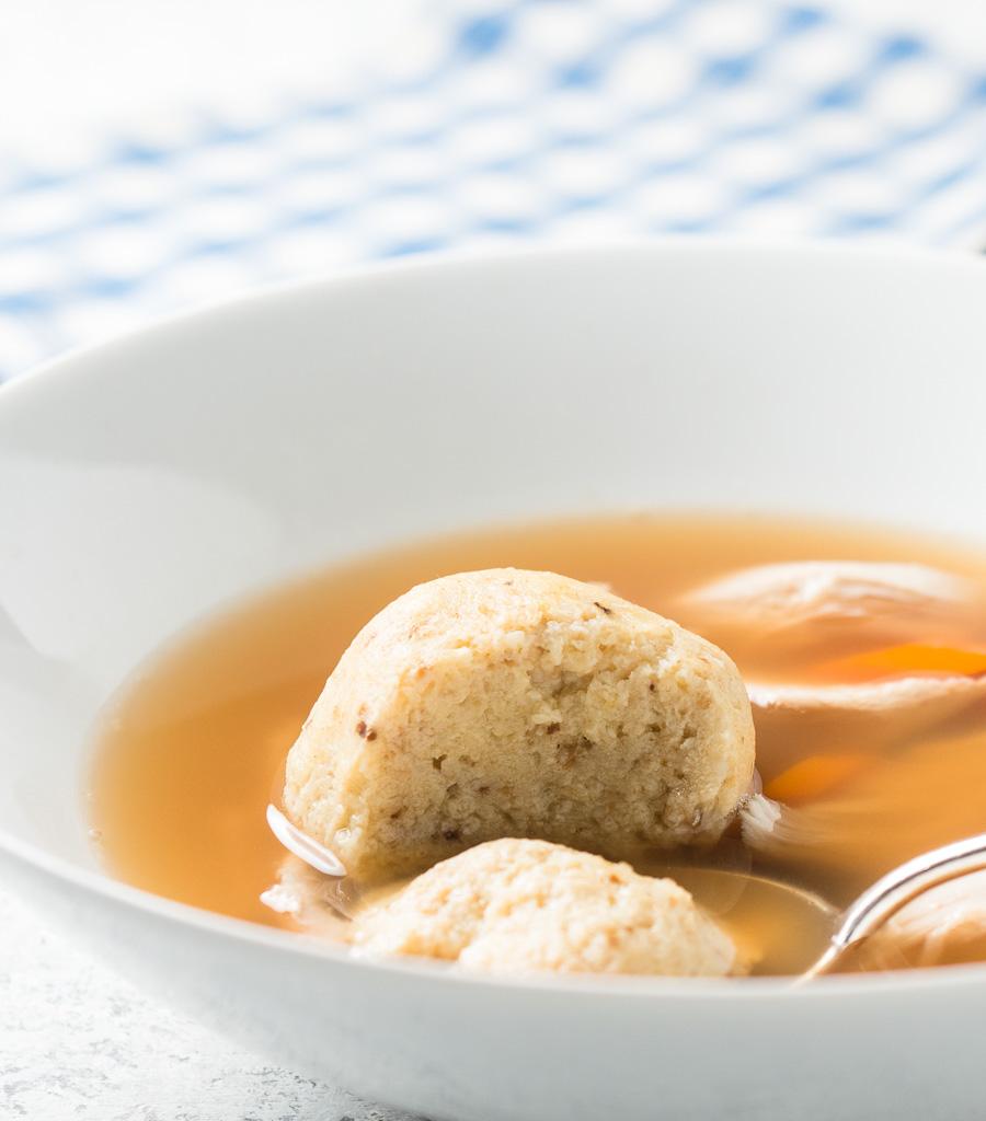 Matzo ball in soup.