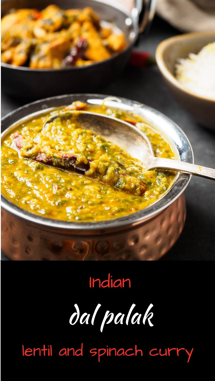 Dal palak is a delicious Indian spinach and lentil curry. Vegan, gluten free.