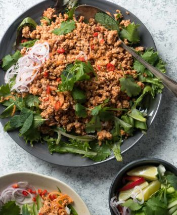 larb – thai pork salad