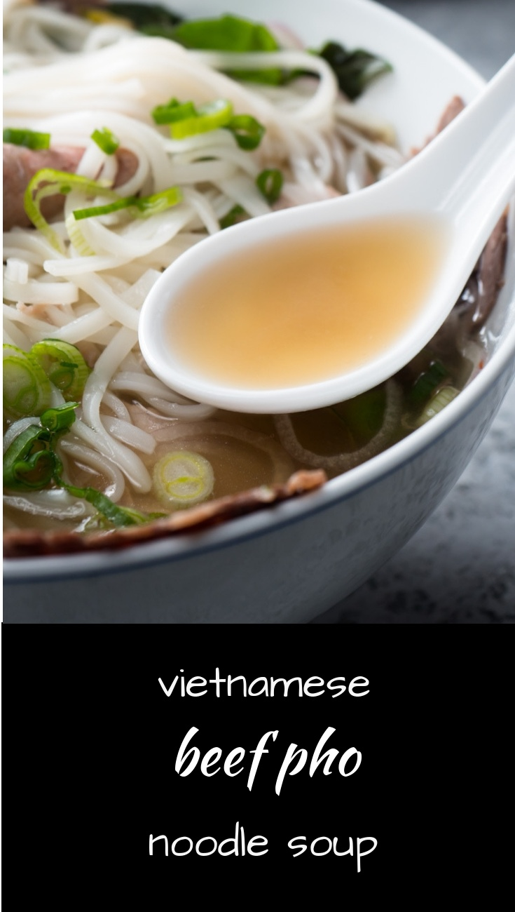 Vietnamese beef pho is the ultimate noodle soup.