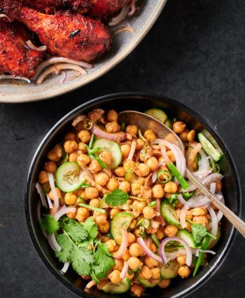 chana chaat – indian chickpea salad