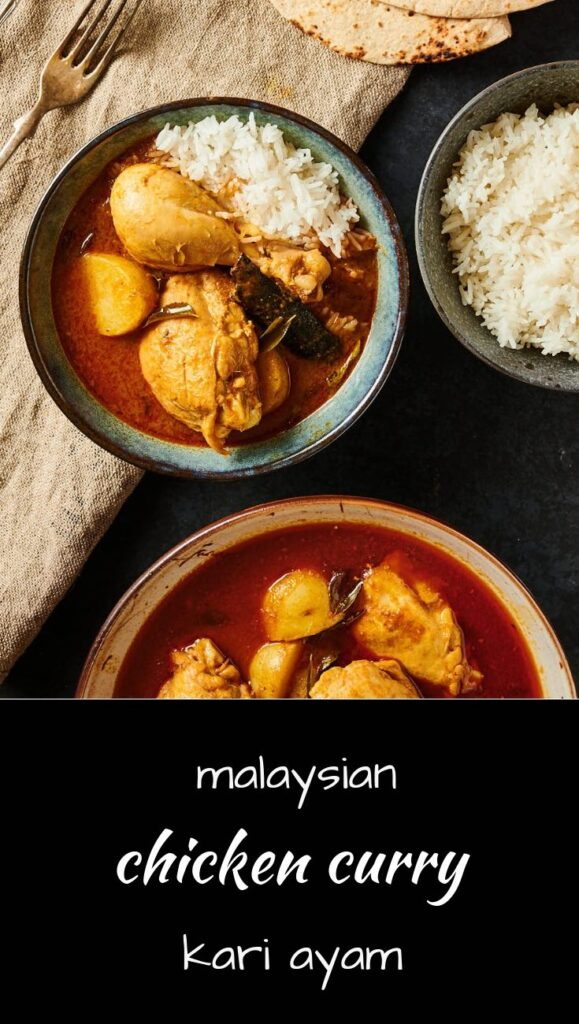 Kari ayam or Malaysian curry chicken is India meets Asia delicious!
