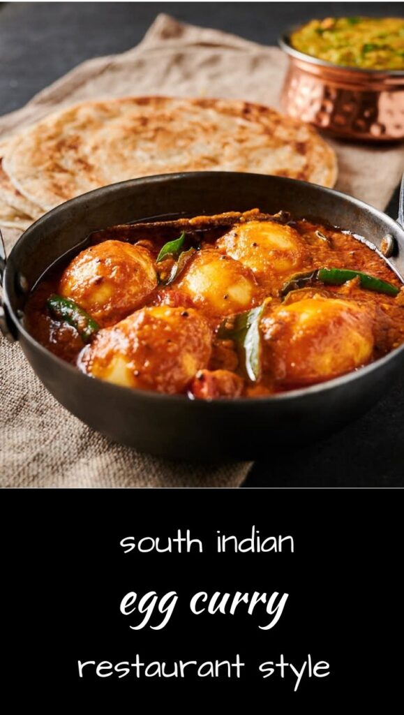 Mix up your Indian cooking with restaurant style South Indian egg curry.
