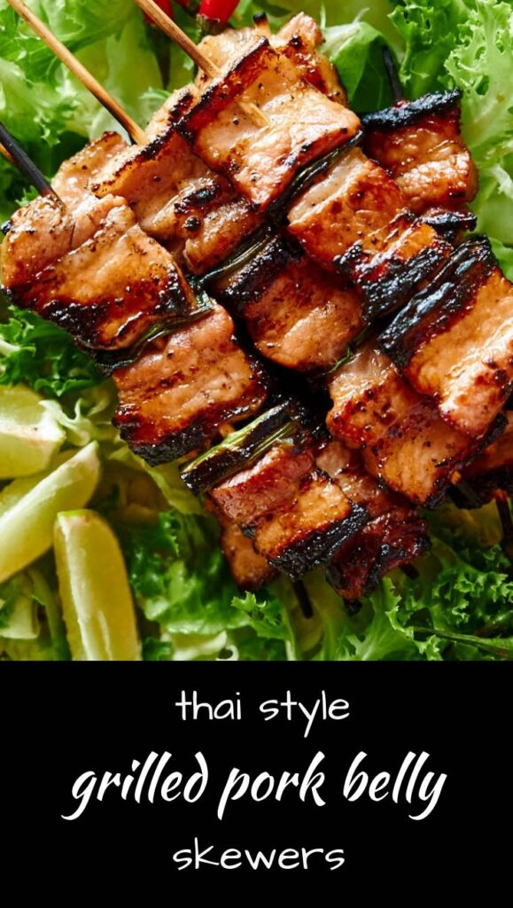 Make these Thai inspired pork belly skewers for your next dinner party!