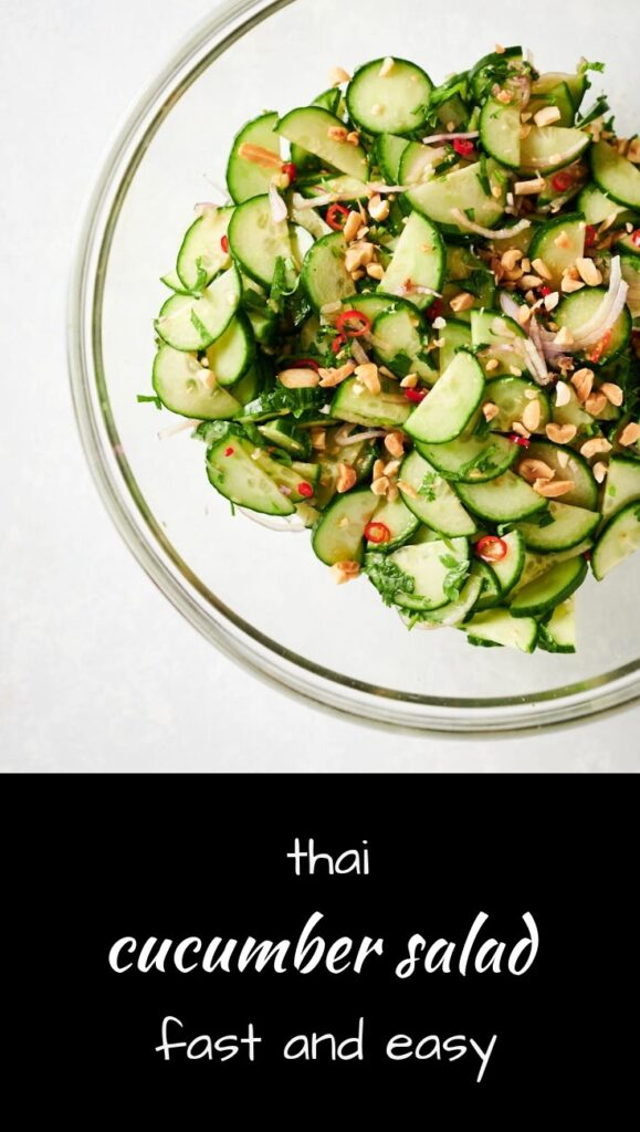 Fast and easy Thai cucumber salad