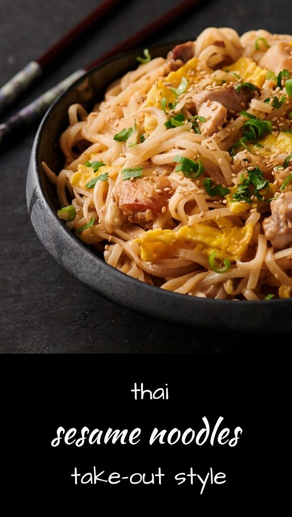 Thai sesame noodles take-out style at home.