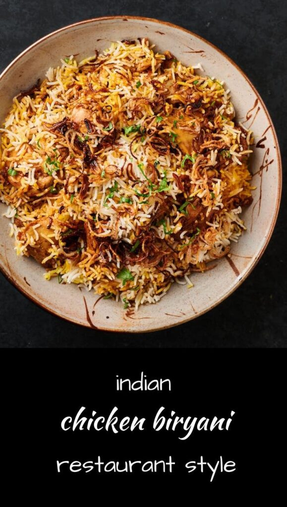 This is how Indian restaurants make really good chicken biryani.