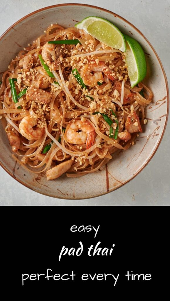An easier version of authentic pad thai cooked street food style.