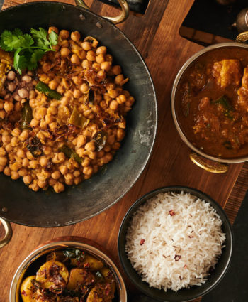 green chili chana achari
