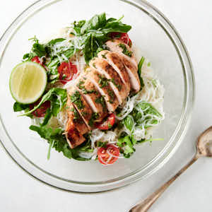 Thai chicken and noodle salad from above.